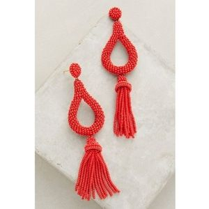 Anthropologie Jasmine Tassel Earrings